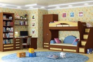 Детская темная Итальянский мотив - Мебельная фабрика «Крафт»