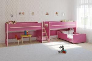 Детская трехъярусная кровать Легенда 23.5 - Мебельная фабрика «Легенда»