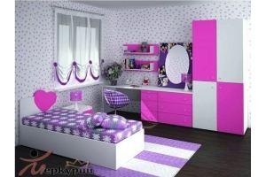 Детская яркая розовая Алина - Мебельная фабрика «Меркурий»