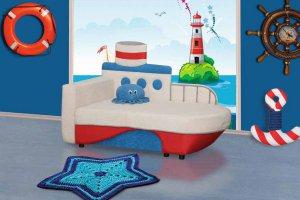 Детский диван Кораблик Нео 33Н - Мебельная фабрика «Нео-мебель»