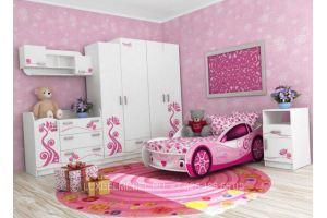 Детский гарнитур из массива для девочек 030517 - Мебельная фабрика «Тамерлан-Стиль (ЛюксБелМебель)»