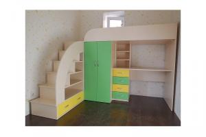 Детский комплекс с рабочей зоной - Мебельная фабрика «Формула уюта»