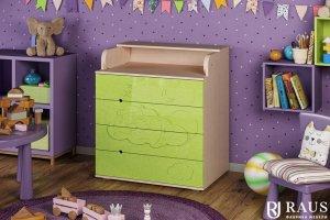 Детский пеленальный комод Мишка на облаке - Мебельная фабрика «РАУС»