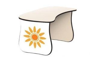 Детский столик Жирафы белый - Мебельная фабрика «КАРоБАС»