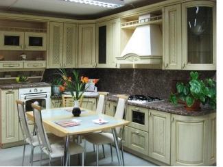 Классическая светлая угловая кухня  - Мебельная фабрика «Найди»