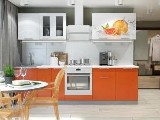 Кухня Премьера с фотопечатью прямая - Мебельная фабрика «Горизонт»