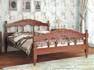 Кровать Точеная №1 резная - Мебельная фабрика «Каприз»