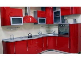 Небольшая красная кухня Эмаль  - Мебельная фабрика «Вектра-мебель»