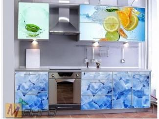 Прямая кухня Айс с фотопечатью - Мебельная фабрика «Манго»