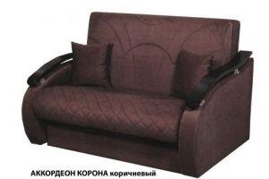 Диван Аккордеон Корона коричневая - Мебельная фабрика «Элна»