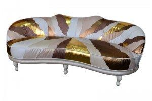 диван Alberta кожаный в стиле печворк - Мебельная фабрика «Финнко-мебель»