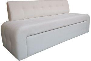Диван белый прямой 79 - Мебельная фабрика «Мега-Проект»