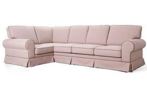 Диван большой розовый угловой - Мебельная фабрика «Мебельный клуб»