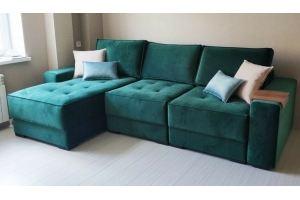 Диван большой зеленый - Мебельная фабрика «Мебельный клуб»
