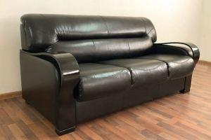 Диван черный Лео 36 - Мебельная фабрика «Лео Люкс»
