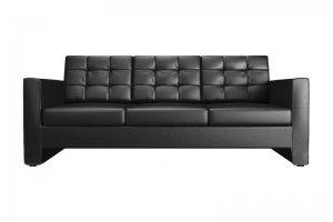 Диван черный трехместный - Мебельная фабрика «Софа»