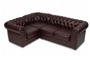 Диван Честер-люкс 3х-местный угловой, экокожа - Мебельная фабрика «МВК»