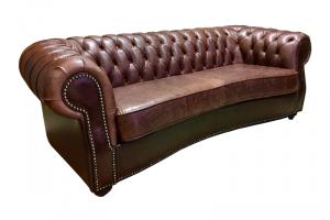 Диван Честер Люкс кожаный - Мебельная фабрика «Финнко-мебель»