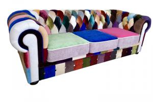 диван Честер в стиле печворк - Мебельная фабрика «Финнко-мебель»