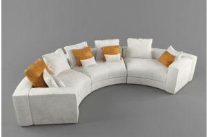 диван для гостиной в форме полукруга ALDES 27   - Мебельная фабрика «Alternativa Design», г. Самара