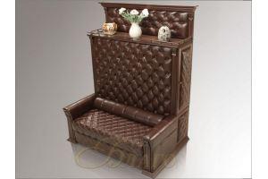 Диван для кабинета Б 5 18 Орех - Мебельная фабрика «Благо»