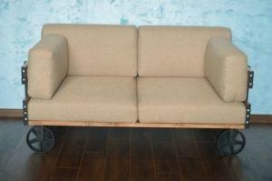 Диван двухместный Мануфактура - Мебельная фабрика «Loft Zona»