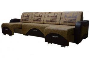Диван Евроджессика с двумя выдвижными оттоманками - Мебельная фабрика «Салават стиль»