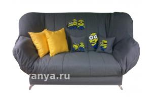 диван клик-кляк Бриз с рисунком Миньон - Мебельная фабрика «Диваны от Ани и Вани»