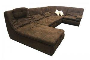 Диван коричневый п-образный Престиж 12 - Мебельная фабрика «Данко»