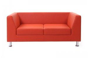 Диван красный двухместный - Мебельная фабрика «Софа»