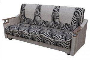 Диван-кровать с деревянными подлокотникам  - Мебельная фабрика «Экон-мебель»
