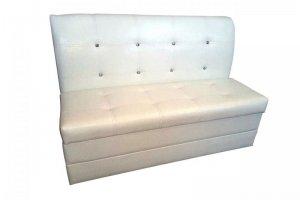 Диван кухонный белый Лавочка - Мебельная фабрика «Дивея»
