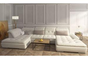 Диван лежак белый угловой - Мебельная фабрика «Экодизайн»