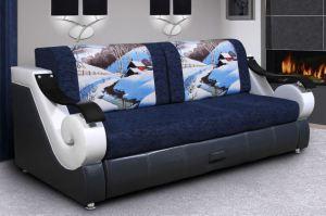 Диван Лидер 23 с фотопечатью на подушках - Мебельная фабрика «Домосед»