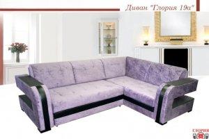 Диван мягкий угол Глория 19А - Мебельная фабрика «Глория»