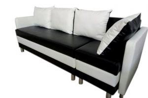Диван прямой черно-белый - Мебельная фабрика «Ритм»