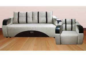 Диван прямой и кресло Неаполь - Мебельная фабрика «Мягкий друг»