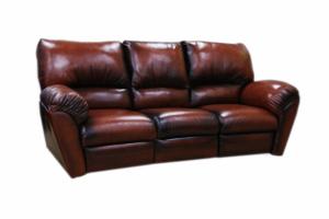 Диван прямой из натуральной кожи - Мебельная фабрика «Вологодская мебельная фабрика»