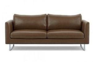 Диван прямой кожаный Оуэнс - Мебельная фабрика «Defy Mebel»