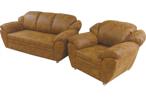 Диван прямой Максимус 4 с креслом - Мебельная фабрика «Сеть-М»