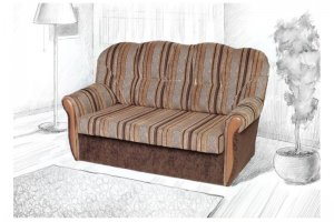 Диван прямой Татьяна 2 - Мебельная фабрика «Визит»
