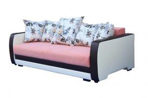 Диван розовый с цветами Рига - Мебельная фабрика «Лидер»
