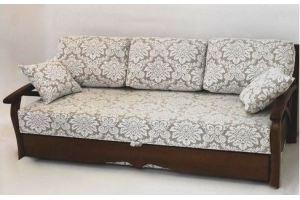 Диван с деревянными подлокотниками Чайка - Мебельная фабрика «Арнада»