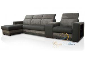 диван с оттоманкой Браво Уют - Мебельная фабрика «Петрамебель»