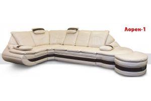 Диван с закругленной оттоманкой Лорен 1 - Мебельная фабрика «Викант»