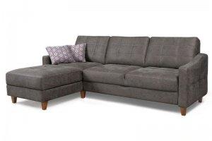 Диван серый угловой на ножках - Мебельная фабрика «Мебельный клуб»