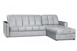 Диван Сидней 155 с оттоманкой Серый - Мебельная фабрика «Цвет диванов»