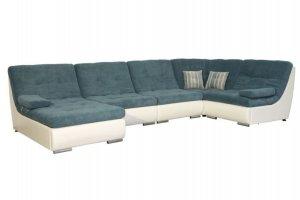 Диван синий п-образный Престиж 12 - Мебельная фабрика «Данко»