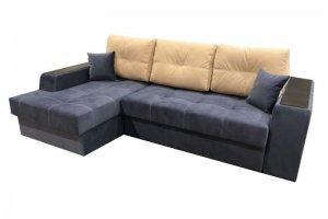 Диван синий угловой Престиж 10 - Мебельная фабрика «Данко»