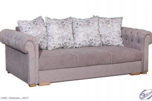 Диван светлый Вега-44 еврокнижка  - Мебельная фабрика «Элегия»